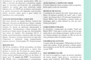 Informativo – 30/08 a 05/09/2015