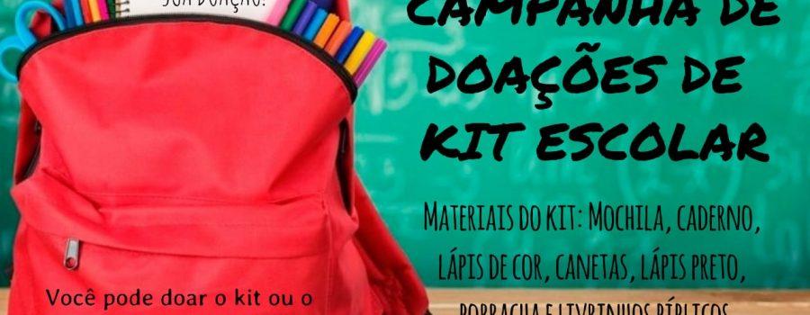 Campanha De Doações De Kit Escolar